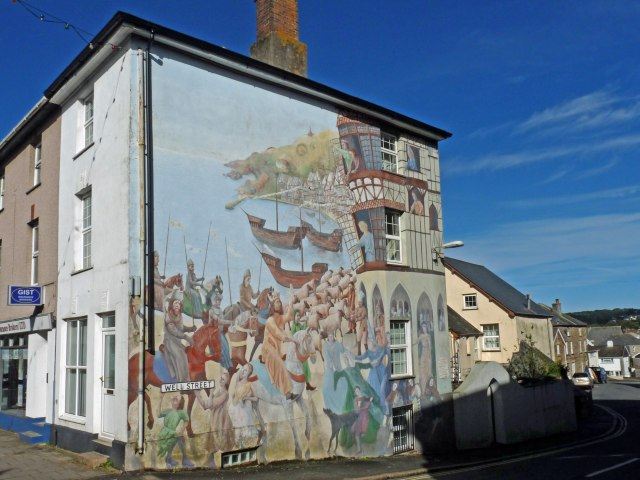 Large mural, Well Street, Callington