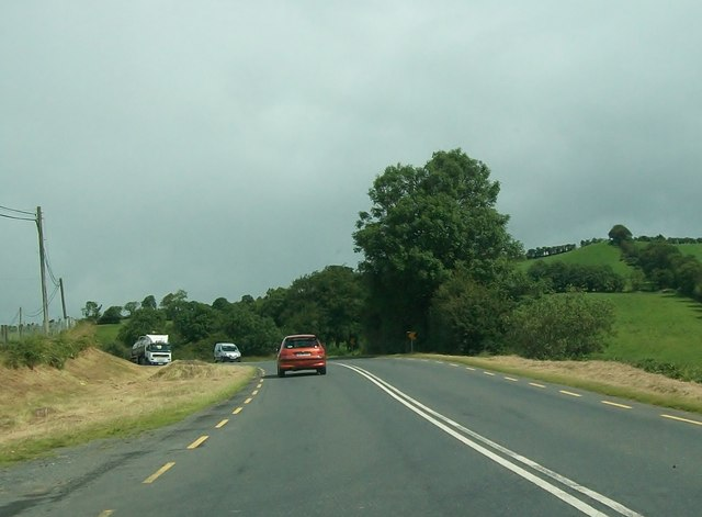 Bend in the R181 at Drumgarra