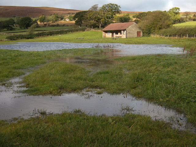 Waterlogged cricket field