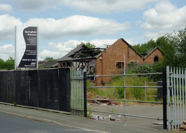 Derelict land and building in Springfield, Wolverhampton