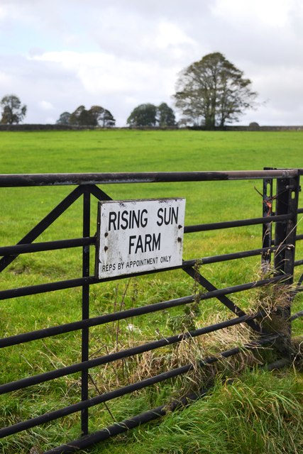 Entrance to Rising Sun Farm, near Tideswell
