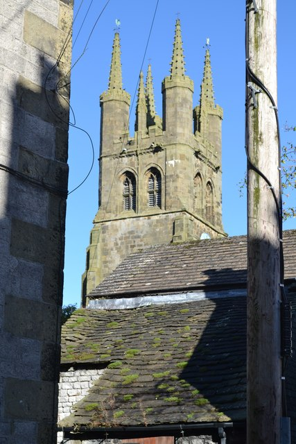 The tower of Tideswell Church