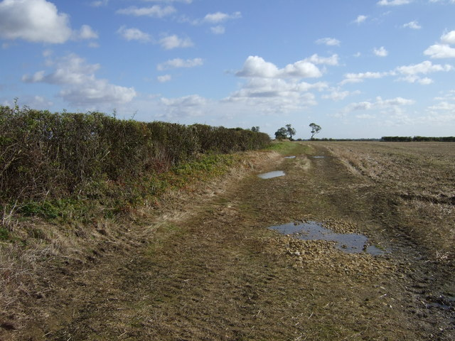Farm track off the Castle Bytham road