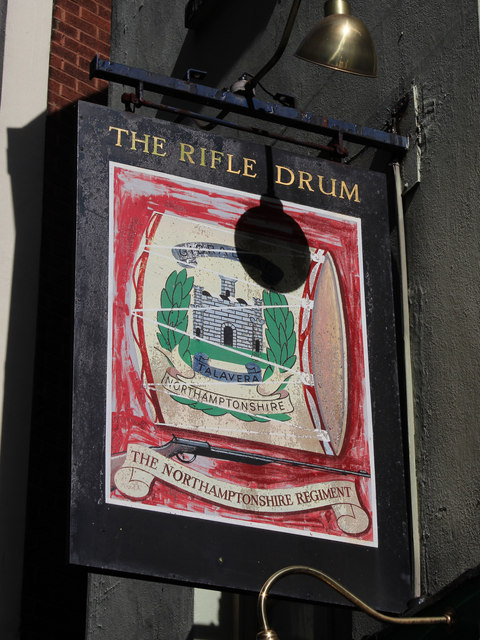 The Rifle Drum sign
