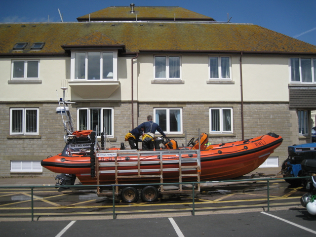 Teignmouth lifeboat from the side, Teignmouth
