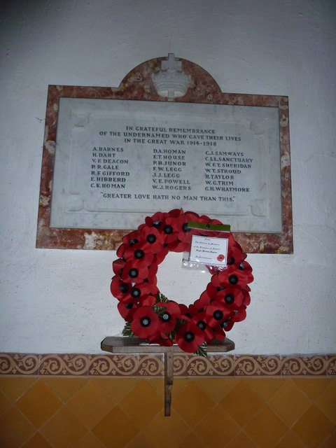 St Mary, Frampton: 1914-18 war memorial