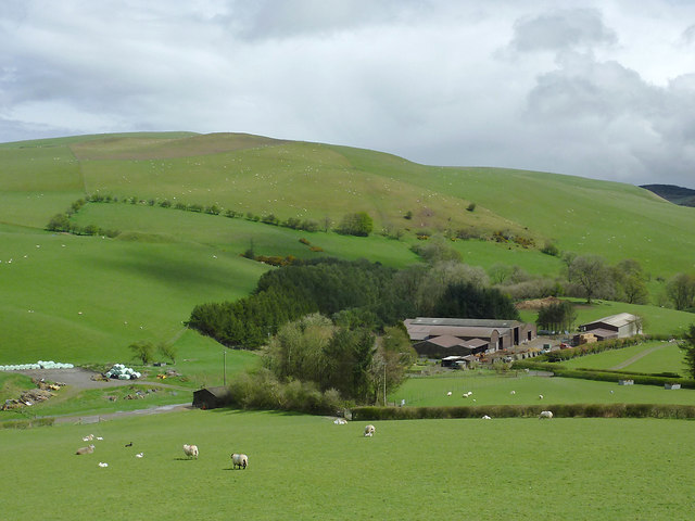 Hill farm south-west of New Radnor, Powys