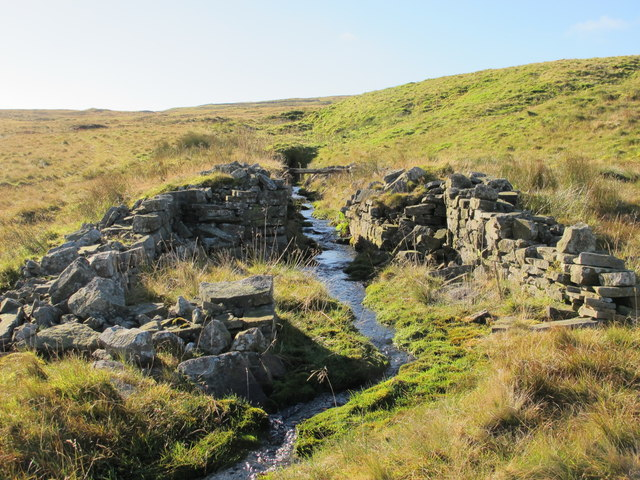 Level and ruins at Cashwell lead mine (disused)