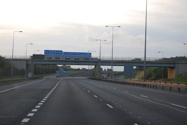 B1043 bridge, A1(M)