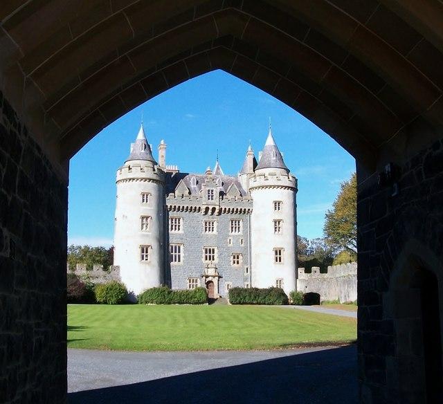 Killyleagh Castle viewed through the gateway