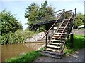 SO8857 : Metal footbridge at the tail of Lock 11 by Christine Johnstone