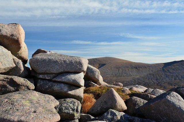Granite boulders, Lurcher's Crag