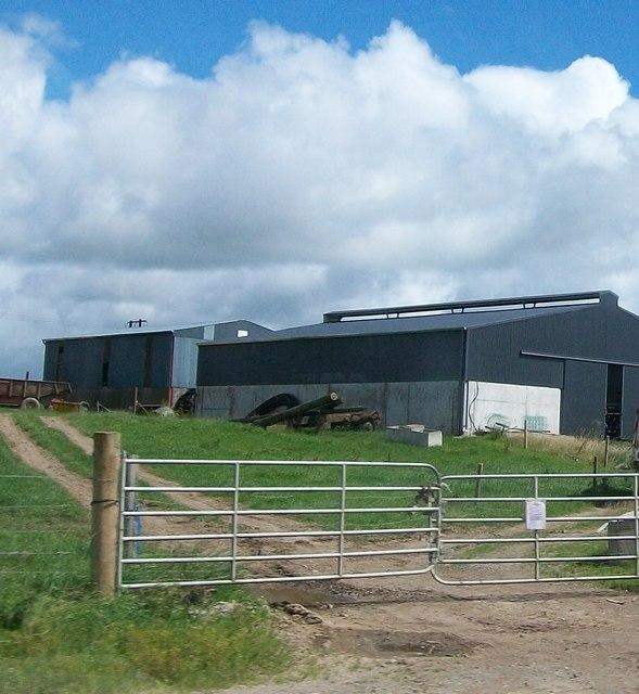 Farm sheds along side the N53
