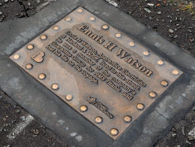 Ennis Watson plaque, Belfast