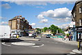 TQ3675 : Mini-roundabout, Brockley Rd by Nigel Chadwick