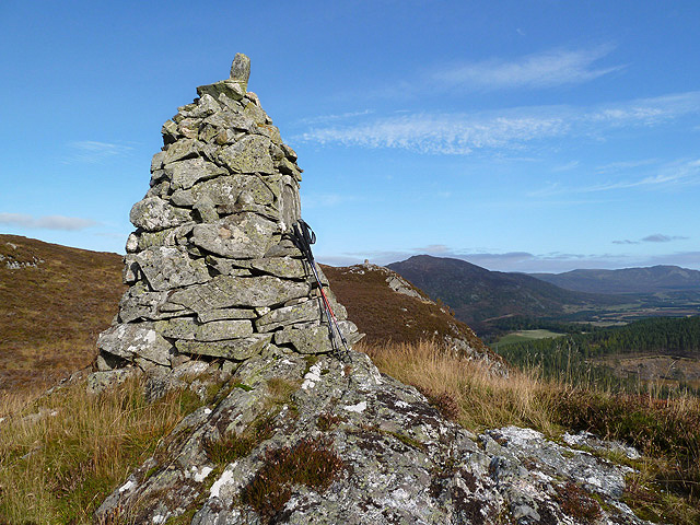 A cairn at Creag a' Chrubain