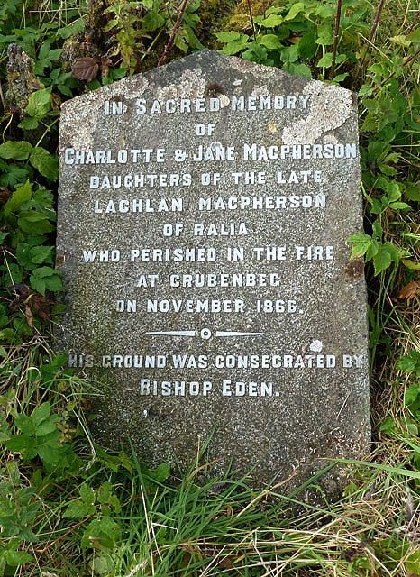 A gravestone at Crubenbeg