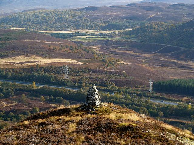 A cairn overlooking Crubenbeg