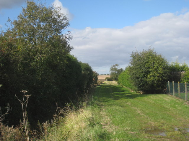 Farm track near Stow Park Crossing