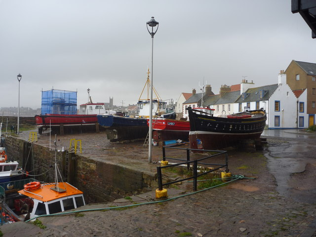 Coastal East Lothian : Autumn Comes To The Old Harbour, Dunbar