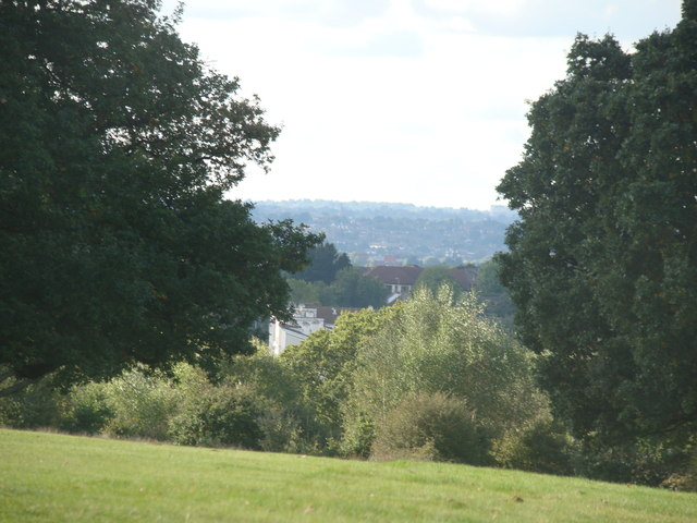 View of Woodford from the golf course