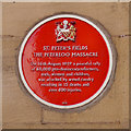 Photo of Peterloo Massacre red plaque