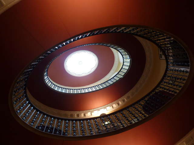 Willersley Castle, staircase
