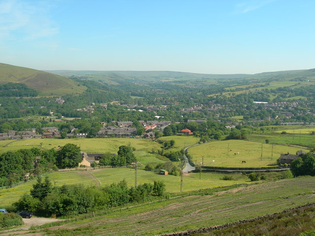 Greenfield from the Oldham Way