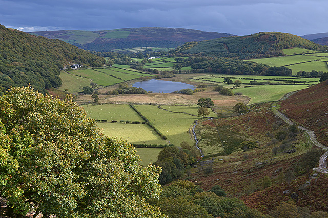 Looking down on Gwynllyn
