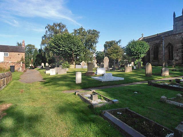Acton churchyard