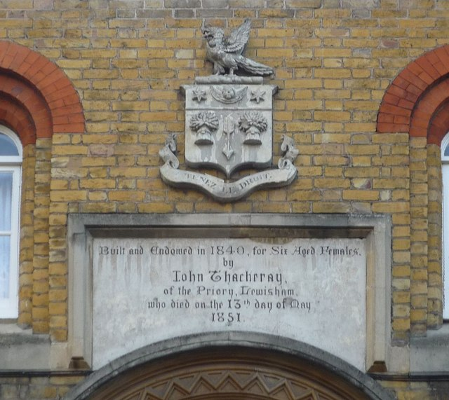 Thackery's Almshouses inscription