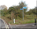 SO8932 : Cycle route signpost, Station Road, Tewkesbury by John Grayson