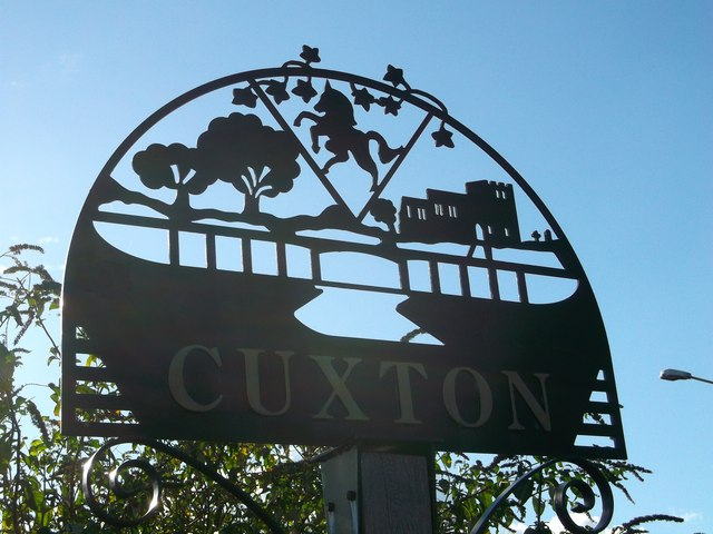 Cuxton Village Sign (close-up)