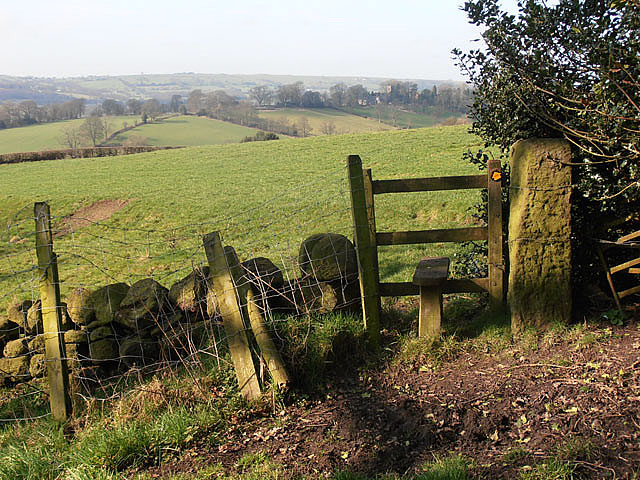 Stile near Lyme House