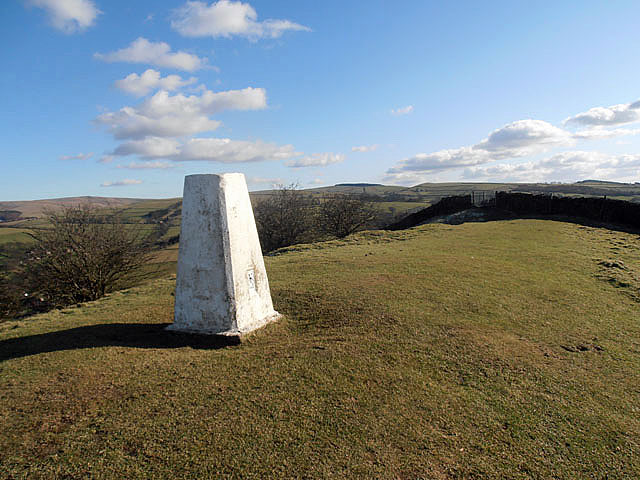 Trig Point above Marksend Quarries