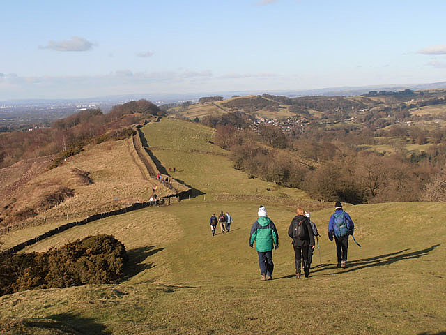 Walkers on Kerridge Ridge