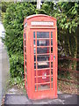 TM4183 : Brampton Station Telephone Box by Adrian Cable