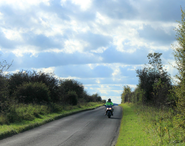 2012 : Motorcyclist on the minor road from Chitterne