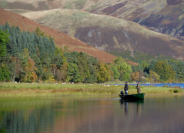 Fishing on St Mary's Loch