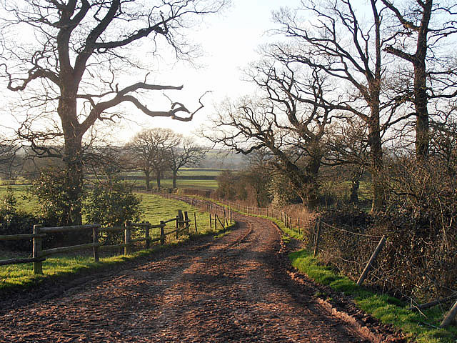 Bridleway at Howlett Hall