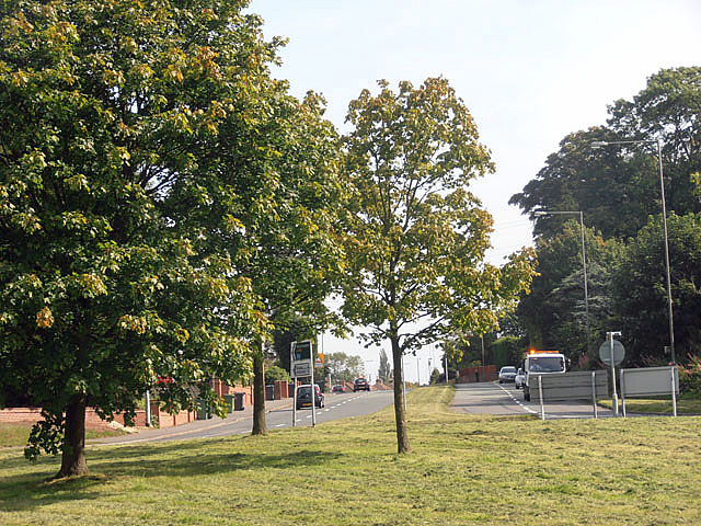 Stourbridge Road just before it becomes Penn Road