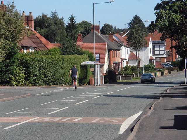 Cyclist on Coalway Road