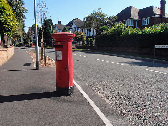 Pillar box in Sandringham Road