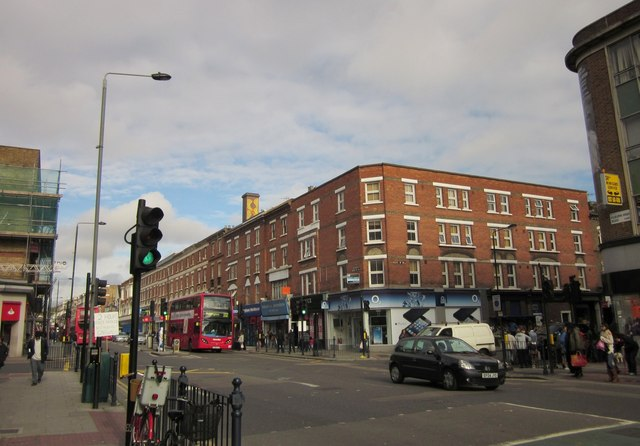 Junction of Kilburn High Road and Quex Road