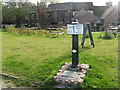 SK2928 : Canal milepost at Willington by M J Richardson