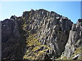 SH6659 : Buttress and gully on Tryfan by Alan O'Dowd