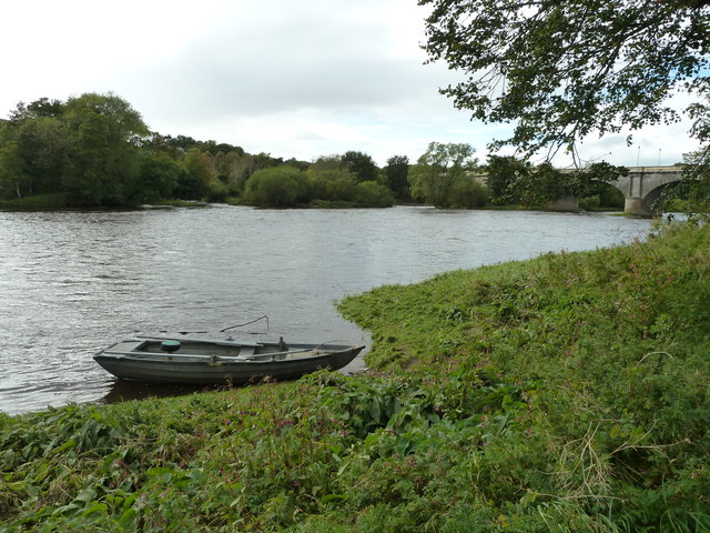 River Tweed and Salmon angler's boat