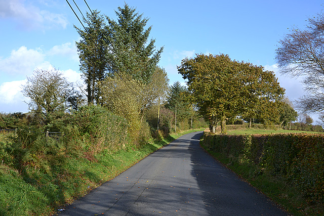 The B4342 near Deri-Garon