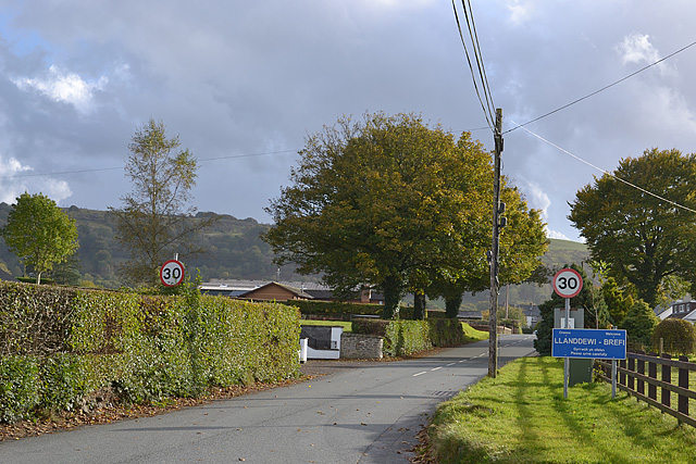 Northern approach to Llandewi Brefi