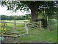SK1825 : Footpath stile and padlocked gate by Christine Johnstone